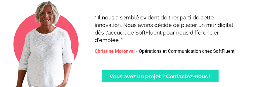 Citation SoftFluent sur le Mur Digital